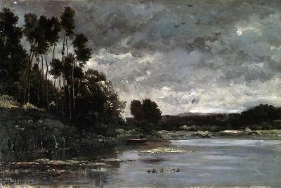 The River Bank, 1866-Charles François Daubigny-Giclee Print