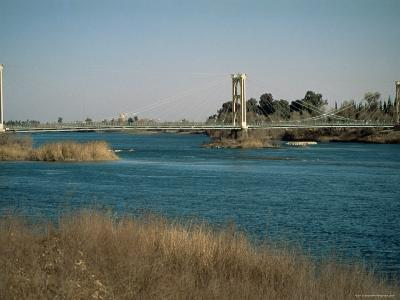 The River Euphrates at Deir Ez-Zur, Syria, Middle East-S Friberg-Photographic Print