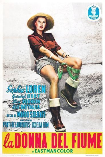 The River Girl 1955 (La Donna Del Fiume)--Giclee Print