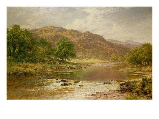 The River Llugwy, Bettws-Y-Coed-Benjamin William Leader-Giclee Print