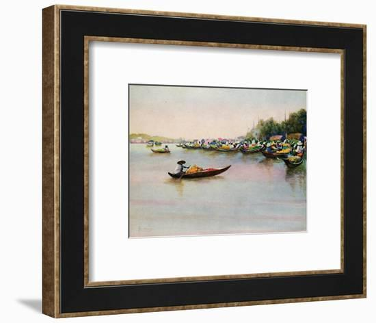 'The River Market, Bangkok', 1913-Edwin Norbury-Framed Giclee Print