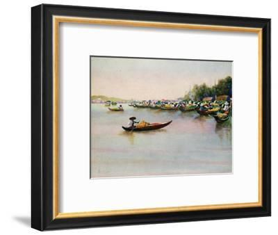 'The River Market, Bangkok', 1913-Edwin Norbury-Framed Giclee Print