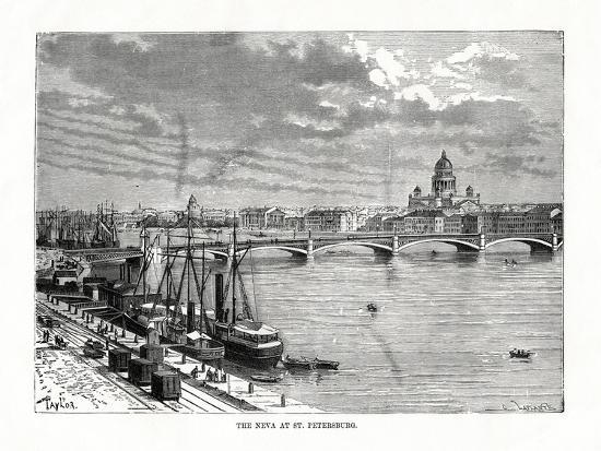 The River Neva, St Petersburg, 1879-C Laplante-Giclee Print