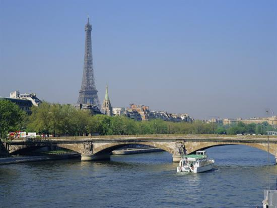 The River Seine and Eiffel Tower, Paris, France, Europe-Roy Rainford-Photographic Print