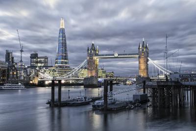The River Thames, Tower Bridge, City Hall-Alex Robinson-Photographic Print