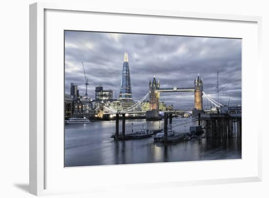 The River Thames, Tower Bridge, City Hall-Alex Robinson-Framed Photographic Print