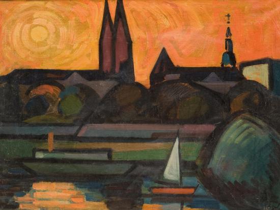 The River Tisza at Szeged, 1965-Emil Parrag-Giclee Print