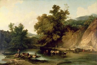 The River Wye at Tintern Abbey, 1805-Philip James De Loutherbourg-Giclee Print