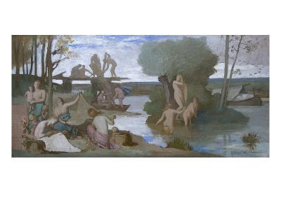 The River-Pierre Puvis de Chavannes-Art Print