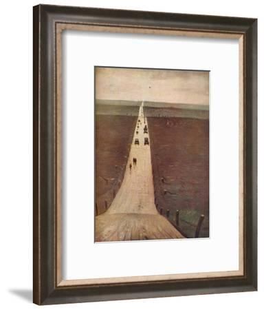 'The Road from Arras to Bapaume', 1917-CRW Nevinson-Framed Giclee Print