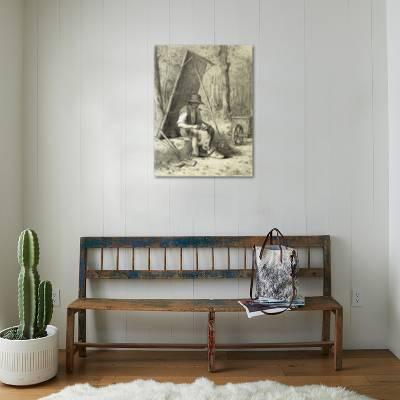 The Road Mender Giclee Print by Jean-François Millet | Art.com