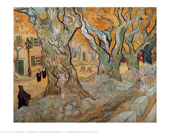 The Road Menders, c.1889-Vincent van Gogh-Art Print