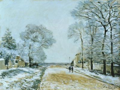 The Road, Snow Effect, 1876-Alfred Sisley-Giclee Print
