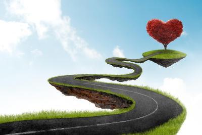 The Road To Heart Tree-jordygraph-Art Print