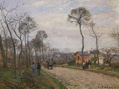 The Road to Louveciennes, 1870-Camille Pissarro-Giclee Print