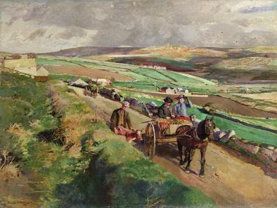 The Road to Market, 1924-Harold Harvey-Giclee Print