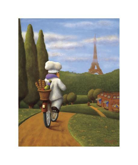 The Road to Paris-Bryan Ubaghs-Giclee Print