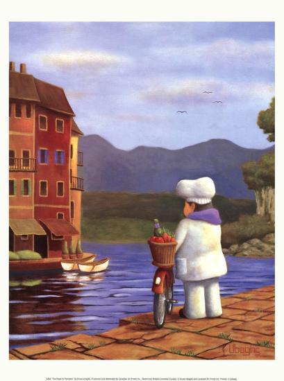 The Road to Portofino-Bryan Ubaghs-Art Print
