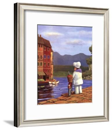 The Road to Portofino-Bryan Ubaghs-Framed Art Print