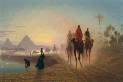 The Road to the Pyramids-Charles Theodore Frere-Giclee Print