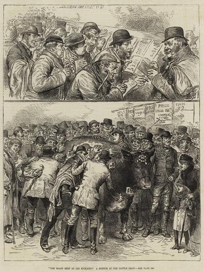 The Roast Beef of Old England, a Sketch at the Cattle Show--Giclee Print