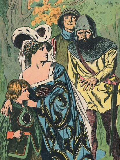 'The Robbers Discover Queen Margaret and the Prince', c1907-Unknown-Giclee Print