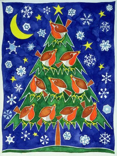 The Robin's Chorus-Cathy Baxter-Giclee Print