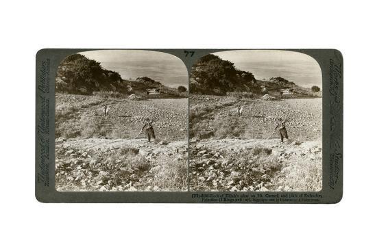 The Rock of Elijah's Altar on Mount Carmel, and the Plain of Esdraelon, Palestine, 1900-Underwood & Underwood-Giclee Print