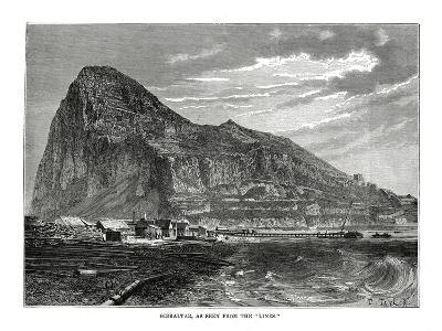 The Rock of Gibraltar, 1879-T Taylor-Giclee Print