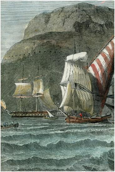 The Rock of Gibraltar, C1880--Giclee Print