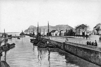The Rock of Gibraltar from Algeciras, Spain, Early 20th Century-VB Cumbo-Giclee Print