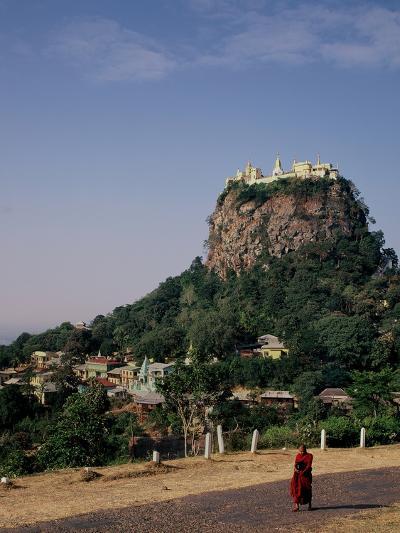 The Rock of Mount Popa, Myanmar--Photographic Print