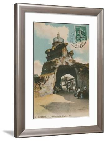 The Rock of the Blessed Virgin in Biarritz, France. Postcard Sent in 1913-French Photographer-Framed Giclee Print