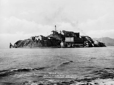 The Rock' United States Penitentiary on Alcatraz Island in San Francisco Bay California, Ca. 1940s--Photo