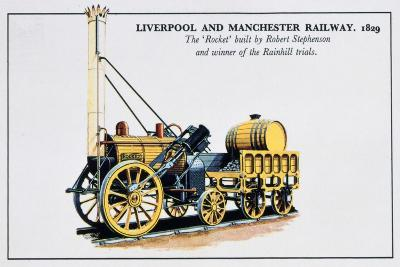 The Rocket, Liverpool and Manchester Railways, 1829--Giclee Print