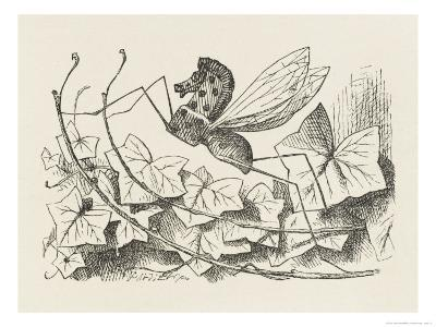 The Rocking-Horse Fly-John Tenniel-Giclee Print