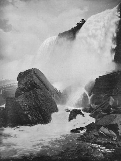 'The Rocks Beneath the American Fall', 19th century-Unknown-Photographic Print
