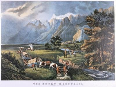The Rocky Mountains, C1834-C1876-Frances Flora Bond Palmer-Giclee Print