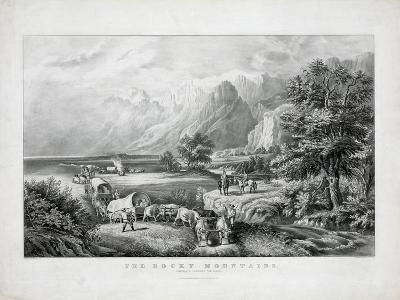 The Rocky Mountains: Emigrants Crossing the Plains-Currier & Ives-Giclee Print