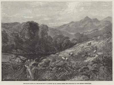 The Rocky Path of a Mountain Burn-Henry Jutsum-Giclee Print