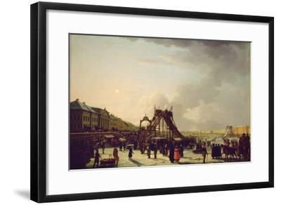 The Rollercoasters on the Neva in St. Petersburg, 1803--Framed Giclee Print