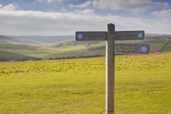 The Rolling Hills of the South Downs National Park Near to Brighton, Sussex, England, UK-Julian Elliott-Photographic Print