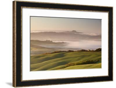 The Rolling Hills. San Quirico, Orcia Valley, Tuscany, Italy-ClickAlps-Framed Photographic Print