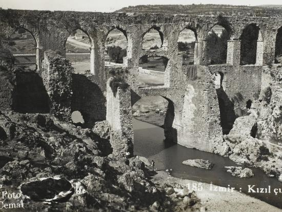 The Roman Aqueduct at Izmir (Smyrna), Turkey--Photographic Print
