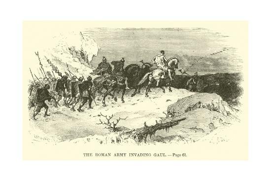 The Roman Army Invading Gaul--Giclee Print