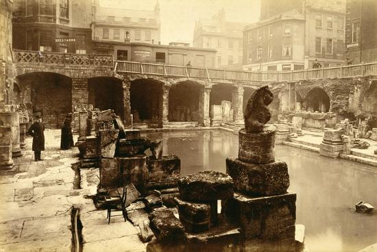 The Roman baths, Bath, 19th century-Unknown-Photographic Print