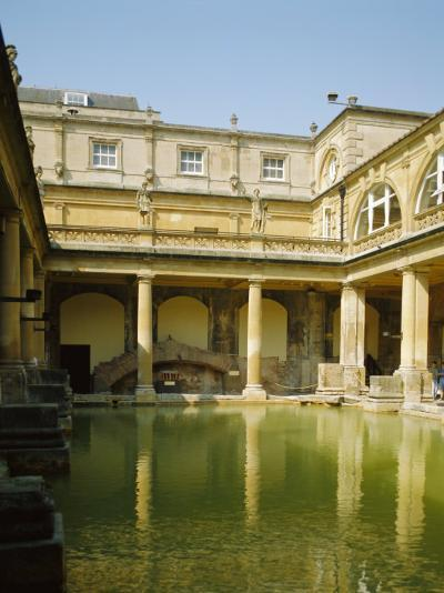 The Roman Baths, Bath, Avon, England, UK-Philip Craven-Photographic Print