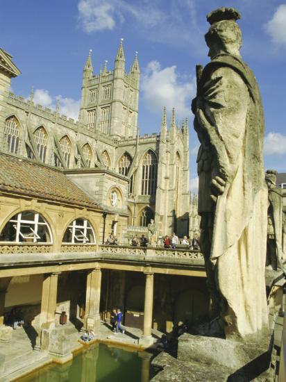 The Roman Baths, Bath, Avon, England, UK-Roy Rainford-Photographic Print