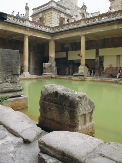 The Roman Baths, Bath, Avon, England, UK-Fraser Hall-Photographic Print