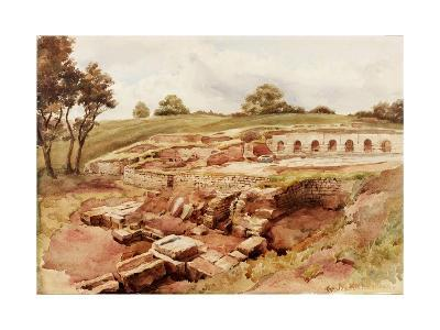 The Roman Baths, Chesters, North Tyne (North View) (Bodycolour, Pencil and W/C on Paper)-Charles Richardson-Giclee Print